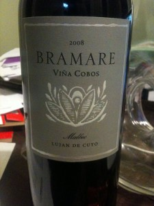 Bramare 2008 Bottle